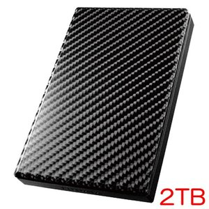 ポータブルHDD アイオーデータ HDPT-UT2DK/E [USB 3.0/2.0対応ポータブルハードディスク「カクうす」2TB]の画像