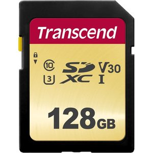SDカード トランセンド TS128GSDC500S [128GB SDXC 500S MLC NAND Class 10、UHS-I U3、V30 対応] etrend-y