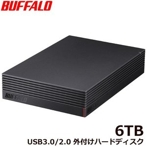 外付HDD バッファロー HD-NRLD6.0U3-BA [USB3.1/USB3.0/USB2.0 外付けHDD PC&TV録画 静音&防振&放熱設計 見守り合図 6TB]|etrend-y