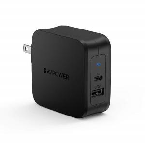 USB充電器 RAV Power RP-PC105 BK [USB-C急速充電器 61W/PD 3....