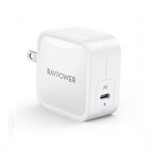 USB充電器 RAV Power RP-PC112 WH [USB-C急速充電器 61W/PD 3....