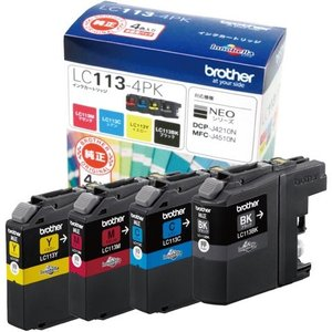 インクカートリッジ ブラザー LC113-4PK [純正インクカートリッジ お徳用4色パック]|etrend-y