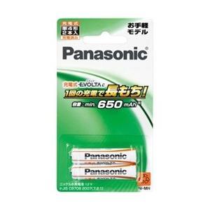 充電式電池 パナソニック BK-4LLB/2B [充電式エボルタ 単4形 2本パック(お手軽モデル)]|etrend-y