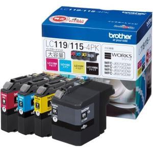 インクカートリッジ ブラザー LC119/115-4PK [純正インクカートリッジ大容量タイプ お徳用4色パック]|etrend-y