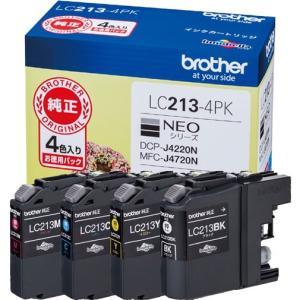 インクカートリッジ ブラザー LC213-4PK [純正インクカートリッジ お徳用4色パック]|etrend-y
