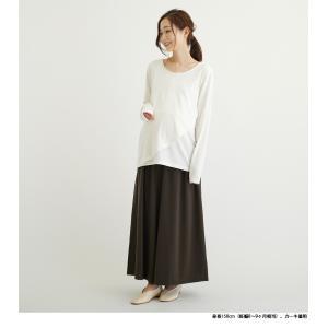 マタニティ ズボン 裏起毛 冬 安い ウエスト紐 ワイド スカーチョ ガウチョ 大きいサイズ 妊婦服/SOB5305-1|ette|02