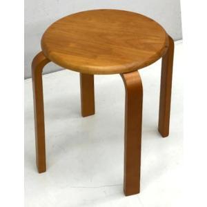 木製 丸椅子 ブラウン 2.2kg