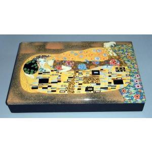 特製 小物入れ漆箱 クリムトの名作「接吻」|eurasia-art
