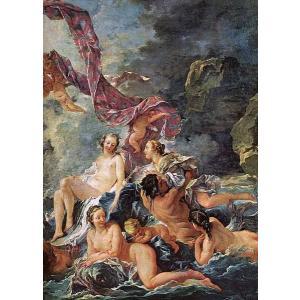 油絵 フランシス・ブーシェの名作_ビーナスの凱旋|eurasia-art
