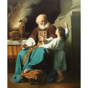 油絵 Copley John Singletonの名作_サムエルによる神の審判の教え|eurasia-art