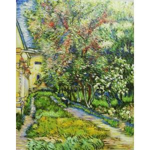 油絵 ゴッホの名作_サン・レミの療養院の庭|eurasia-art