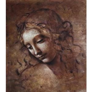 特価油絵 ダビンチの名作_みだれ髪の女 eurasia-art