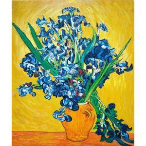 油絵 ゴッホの名作「花瓶のアイリス」|eurasia-art