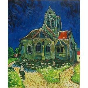 油絵  ゴッホの名作「オヴェールの教会」|eurasia-art