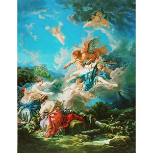 油絵 ブーシェの名作_オレイテュイアを奪うボレアス|eurasia-art