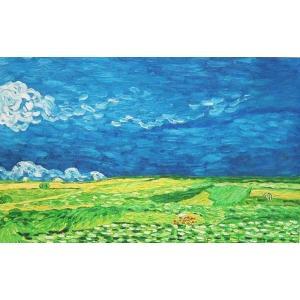 油絵 ゴッホの名作「荒れ模様の空の麦畑」|eurasia-art