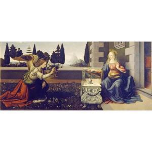 油絵  ダビンチの名作_受胎告知|eurasia-art
