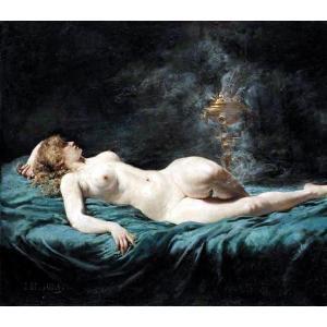 油絵  Jules-Elle Dalaunay_横たわる裸婦|eurasia-art