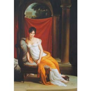 油絵  フランソワ・ジェラールの名作「レカミエ夫人」|eurasia-art