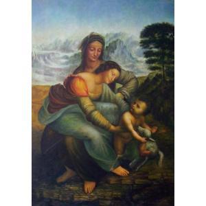 特価油絵 ダビンチの名作_聖アンナと聖母子 eurasia-art