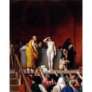 油絵  ジャン=レオン・ジェロームの名作_ローマの奴隷市場|eurasia-art