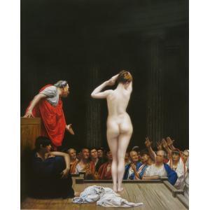 油絵  ジャン=レオン・ジェロームの名作_ローマの奴隷売買|eurasia-art
