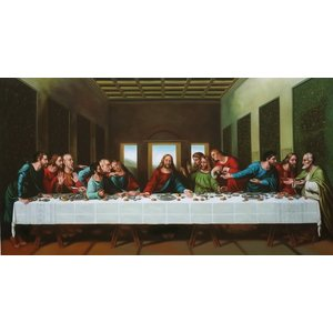 油絵 ダビンチの名作_最後の晩餐 eurasia-art