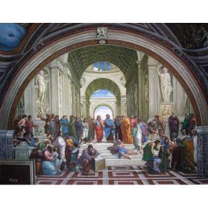 特価油絵  ラファエロの名作「アテネの学堂」|eurasia-art