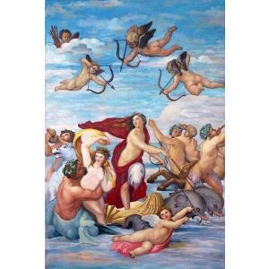 特価油絵 ラファエロの名作「ガラテイアの勝利」|eurasia-art