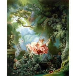 油絵  フラゴナールの名作「ブランコ」|eurasia-art