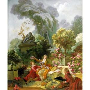 油絵  フラゴナールの名作_王女の恋人|eurasia-art