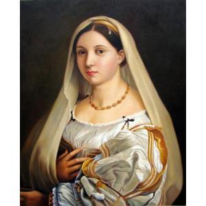 特価油絵  ラファエロの名作「ラ・ベラータ」 別名 「ベールの女」|eurasia-art