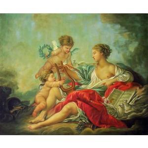 油絵  ブーシェの名作「天使の楽器」|eurasia-art