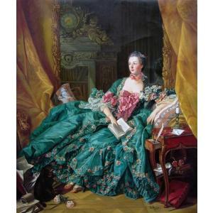 油絵  ブーシェの名作_ポンパドール夫人|eurasia-art