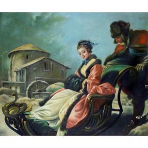 油絵  ブーシェの名作「四季・冬」|eurasia-art