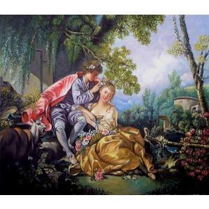 油絵  ブーシェの名作「四季・春」|eurasia-art