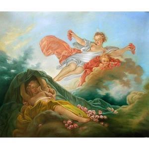 特価油絵 フラゴナールの名作「ビーナスの目覚め」|eurasia-art