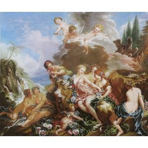 油絵  ブーシェの名作_エウロパの略奪|eurasia-art