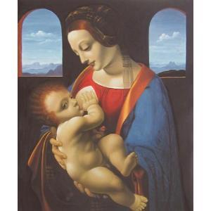 油絵  ダビンチの名作「リッタの聖母」 eurasia-art