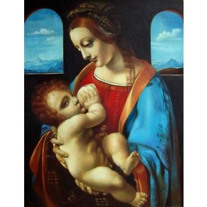 特価油絵 ダビンチの名作「リッタの聖母」 eurasia-art
