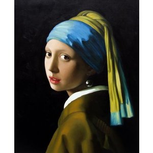 油絵 フェルメールの名作「真珠の耳飾りの少女(別名:青いターバンの少女)」|eurasia-art