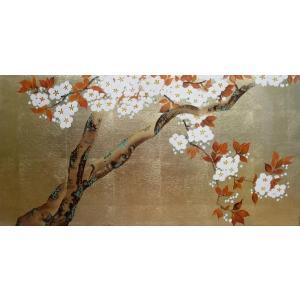 漆絵 酒井抱一の名作「桜図」左隻|eurasia-art