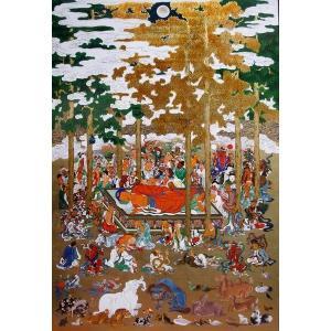 漆絵 長谷川等伯の名作_仏涅槃図(ぶつねはんず)・部分 eurasia-art
