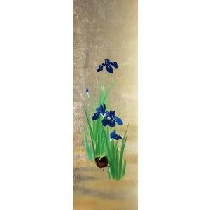 漆絵 酒井抱一の名作_燕子花に水鶏(くいな)図|eurasia-art