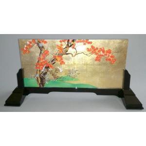 漆絵 酒井抱一の名作「楓図」 専用スタンド付|eurasia-art