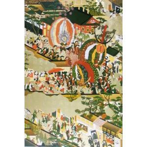 漆絵 洛中洛外図・舟木本・左隻・部分|eurasia-art