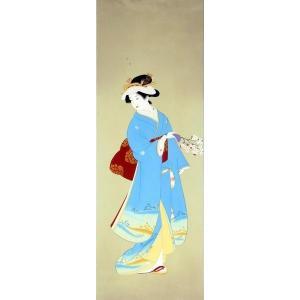 漆絵 上村松園の名作 「春信(しゅんしん)」|eurasia-art