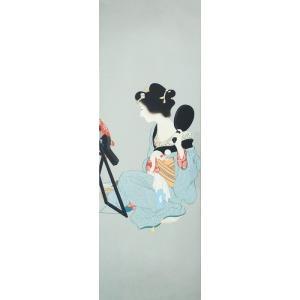漆絵 上村松園の名作「化粧の図」|eurasia-art