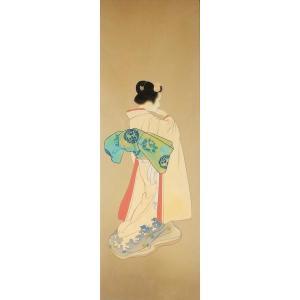 漆絵 上村松園の名作「姉妹三人」部分|eurasia-art