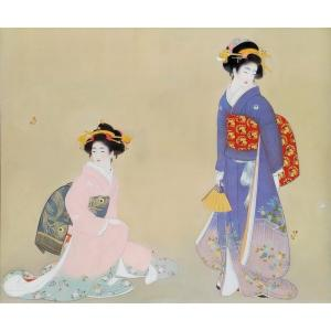 漆絵 上村松園の名作「春秋」|eurasia-art